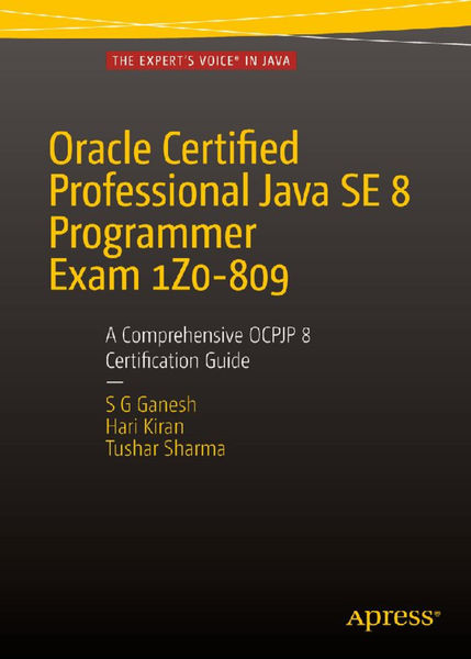 Oracle Certified Professional Java SE 8 Programmer...