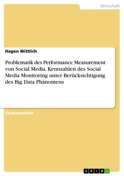 Problematik des Performance Measurement von Social...