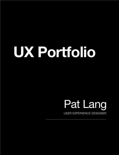 User Experience Portfolio