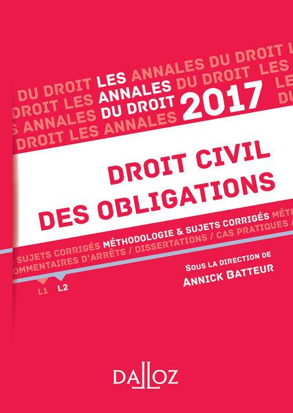 Annales Droit civil des obligations 2017