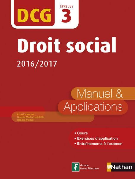 DCG 3 : Droit social 2016/2017