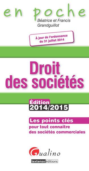 Droit des sociétés 2014-2015
