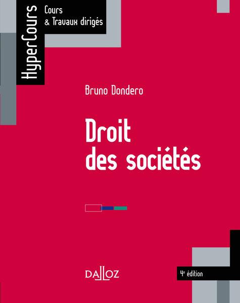 Droit des sociétés - 4e éd.