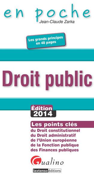 Droit public: Édition 2014