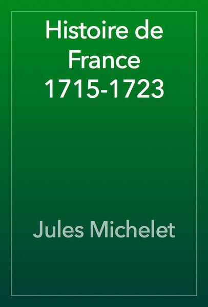 Histoire de France 1715-1723