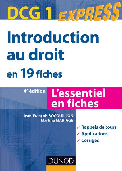 Introduction au droit DCG 1- 4e édition