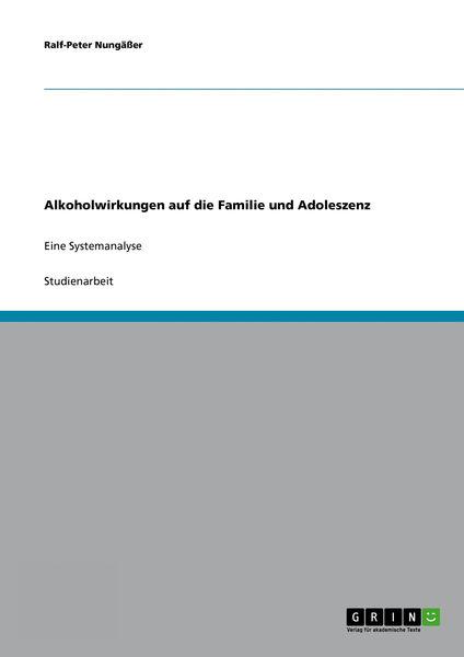 Alkoholwirkungen auf die Familie und Adoleszenz