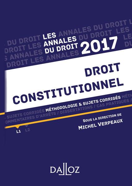 Annales Droit constitutionnel 2017