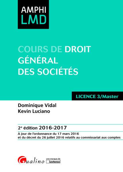Cours de droit général des sociétés 2016-2017
