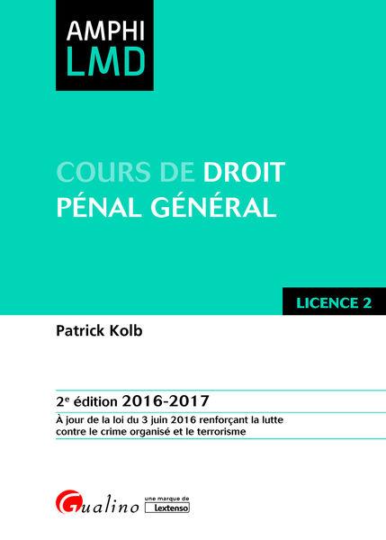 Cours de droit pénal général 2016-2017