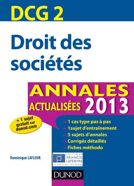 DCG 2 - Droit des sociétés - 5e édition