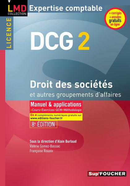 DCG 2 - Droit des sociétés et autres groupements d...