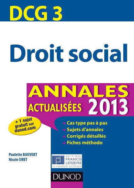 DCG 3 - Droit social - 4e éd.