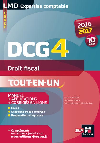 DCG 4 - Droit fiscal - Manuel et applications - 10...