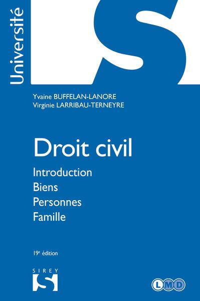 Droit civil. Introduction Biens Personnes Famille