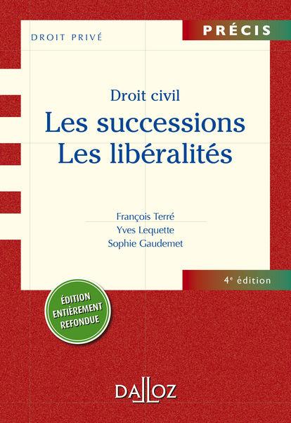 Droit civil. Les successions. Les libéralités