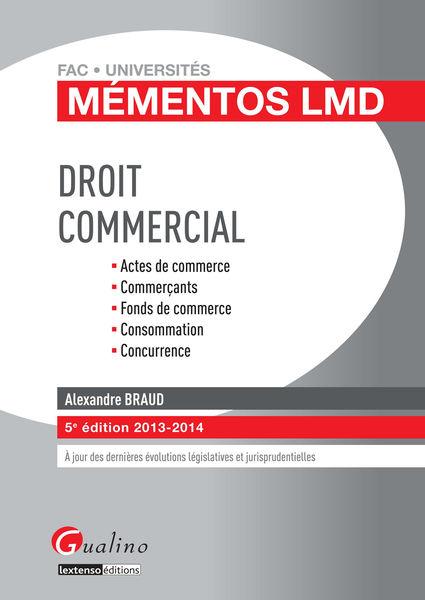Droit commercial 2013-2014
