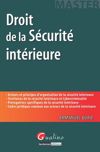 Droit de la sécurité intérieure