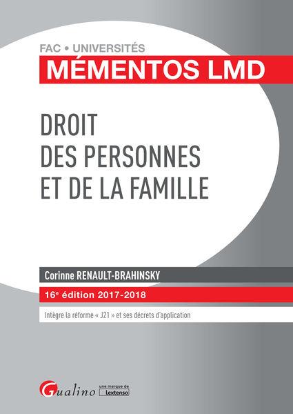 Droit des personnes et de la famille 2017-2018