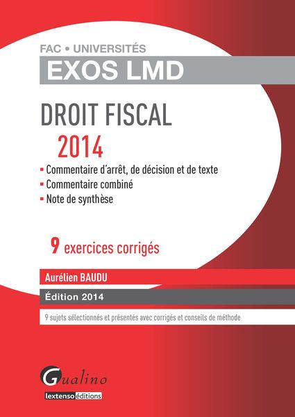 Droit fiscal 2014 - 9 exercices corrigés