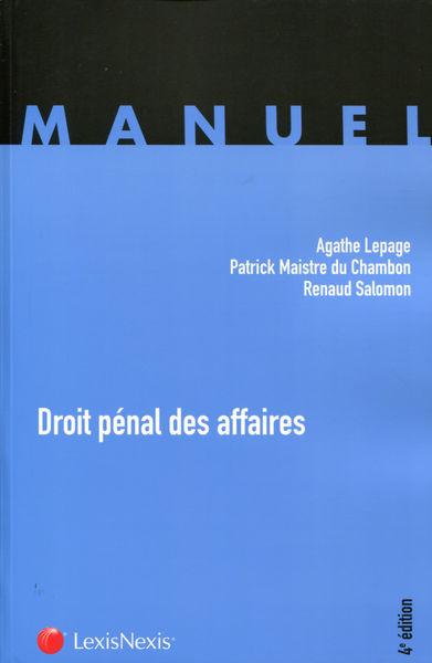 Droit pénal des affaires - 4e Edition