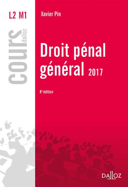 Droit pénal général 2017
