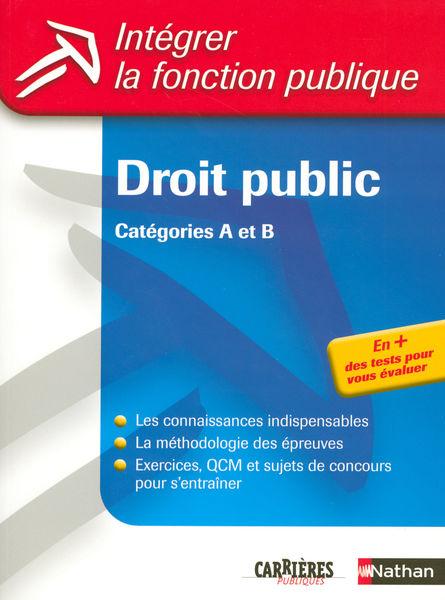 Droit public - Catégories A et B