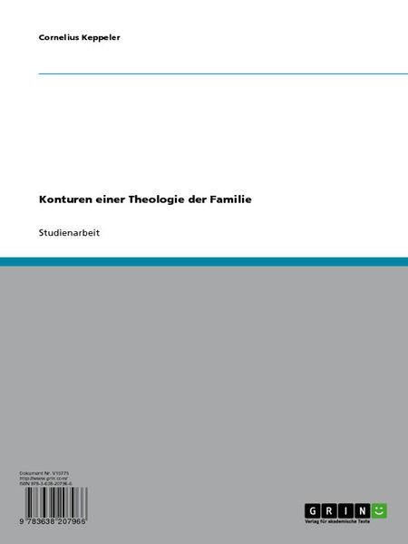Konturen einer Theologie der Familie