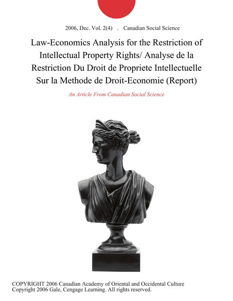 Law-Economics Analysis for the Restriction of Inte...