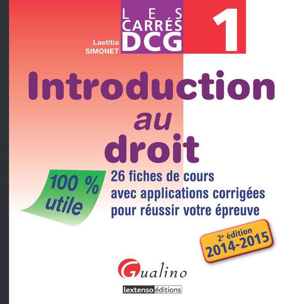 Les Carrés DCG 1 - Introduction au droit 2014-2015