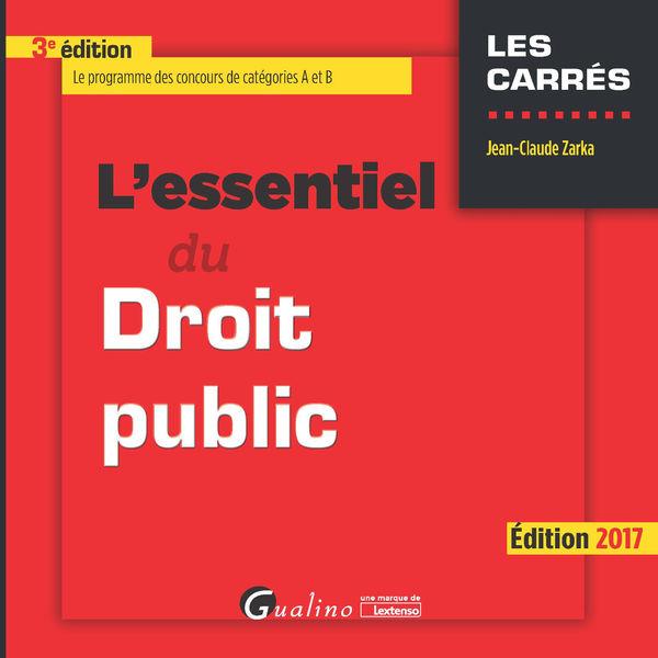 L'essentiel du droit public 2017