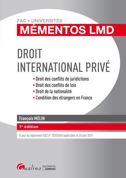 Mémentos LMD - Droit international privé 2016-2017