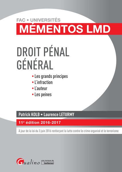 Mémentos LMD - Droit pénal général 2016-2017