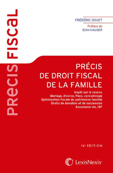 Précis fiscal de droit de la famille