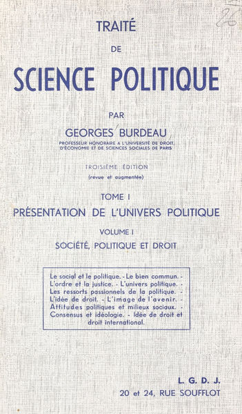 Traité de science politique (1.1). Présentation de...