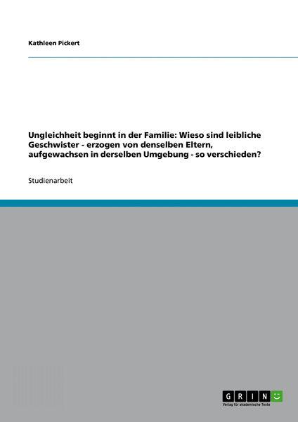 Ungleichheit beginnt in der Familie: Wieso sind le...