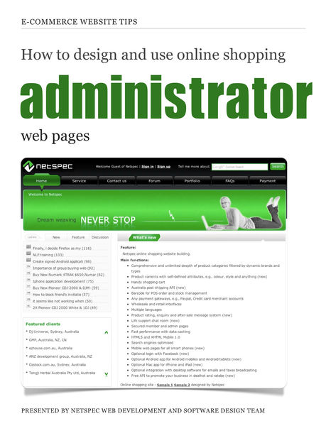 How to design and use online shopping administrato...
