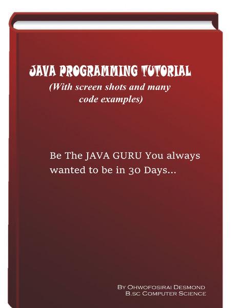 Java Programming Tutorial With Screen Shots & Many...