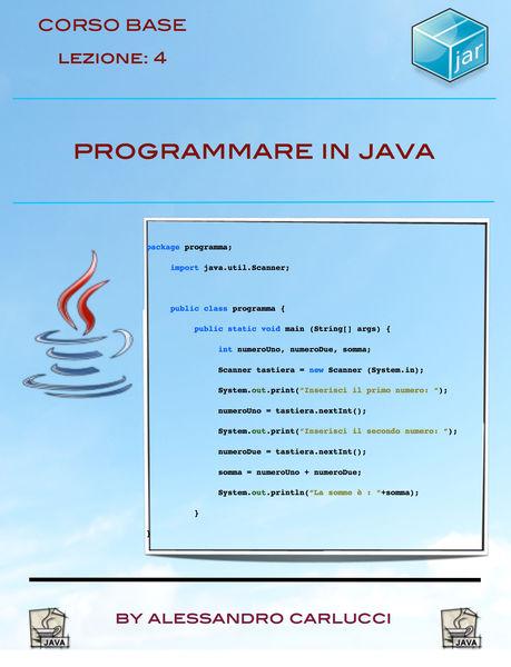 Programmare in Java - Lezione 4