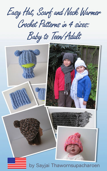Easy Hat, Scarf and Neck Warmer Crochet Patterns i...
