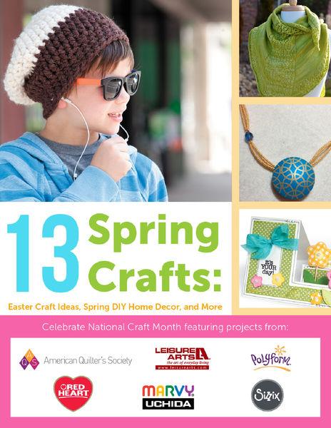 13 Spring Crafts: Easter Craft Ideas, Spring DIY H...