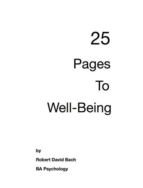 25 Pages to Well-Being