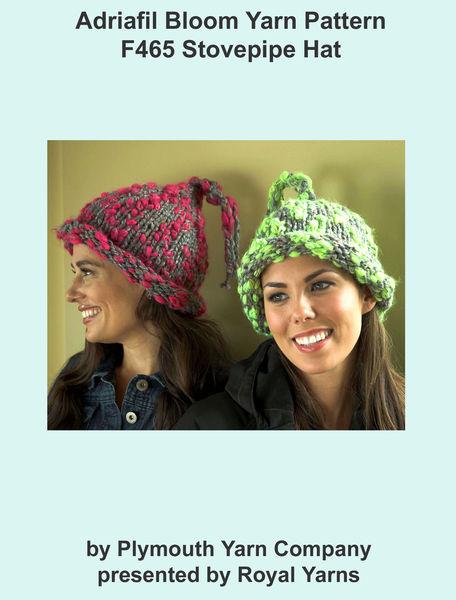 Adriafil Bloom Yarn Pattern F465 Stovepipe Hat