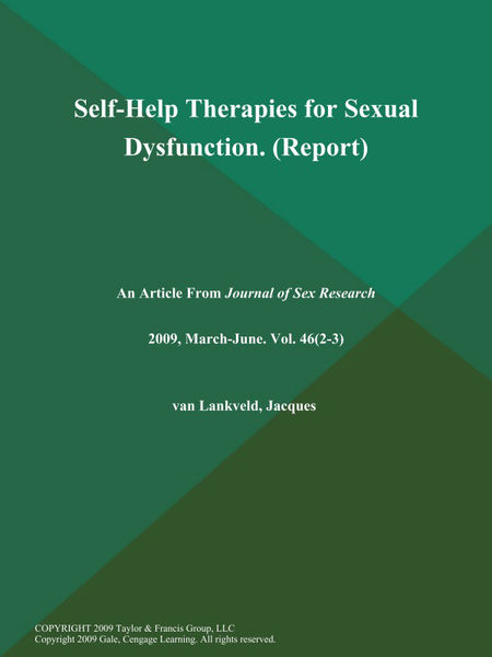 Self-Help Therapies for Sexual Dysfunction (Report...