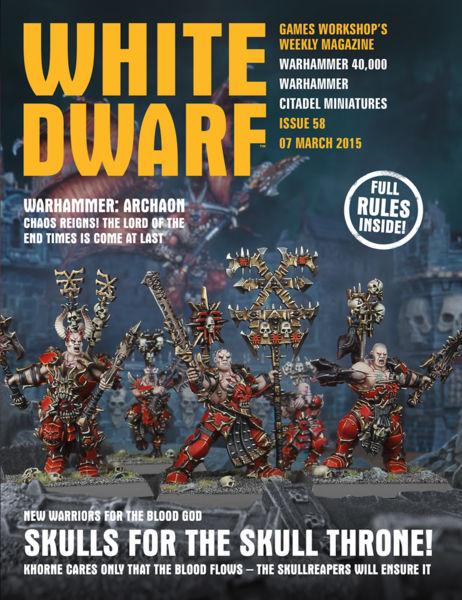 White Dwarf Issue 58: 07 March 2015