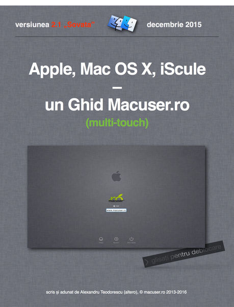 Apple, Mac OS X, iScule – un Ghid Macuser.ro