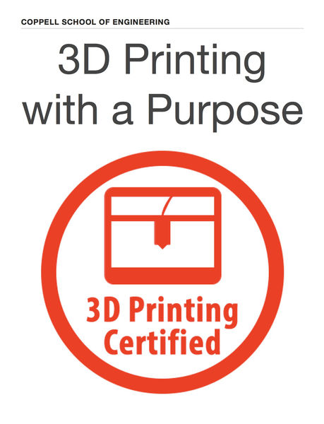 3D Printing with a Purpose