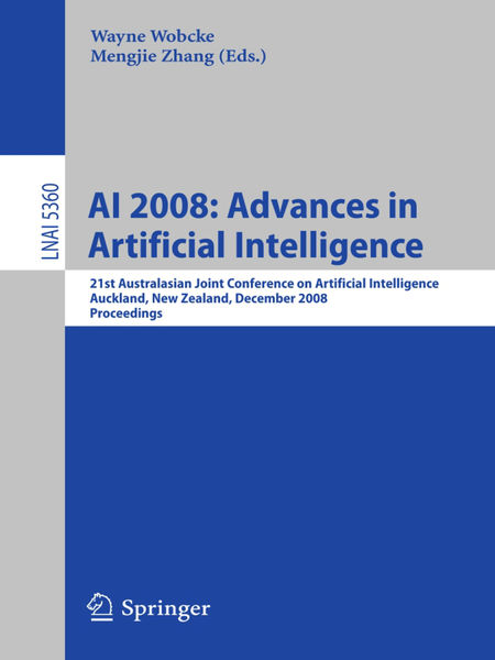 AI 2008: Advances in Artificial Intelligence