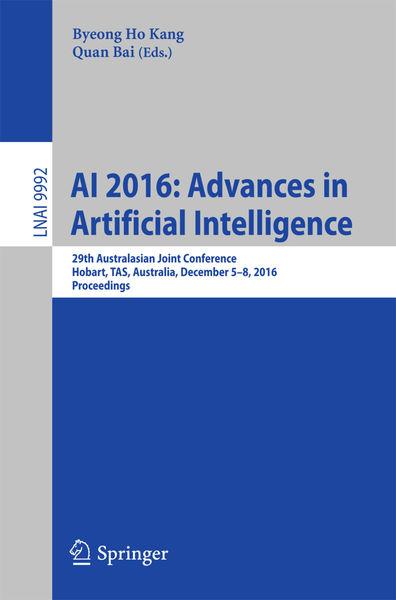 AI 2016: Advances in Artificial Intelligence