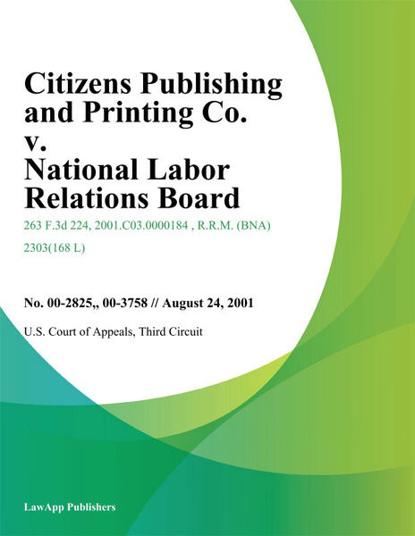 Citizens Publishing and Printing Co. v. National L...